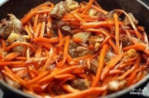Плов из бурого риса со свининой - фото шаг 7
