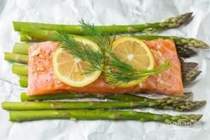 Красная рыба в фольге с лимоном - фото шаг 4