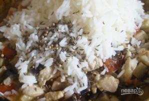 Мини-пироги с курицей, рисом и баклажанами - фото шаг 7