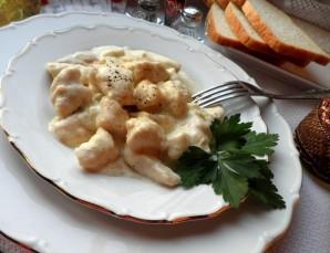 Куриное фрикасе в сливочном соусе - фото шаг 6
