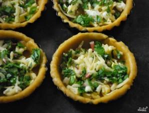 Тарталетки с творожным сыром и зеленью - фото шаг 2