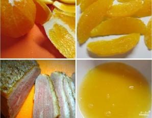 Салат с утиной грудкой и апельсинами - фото шаг 3
