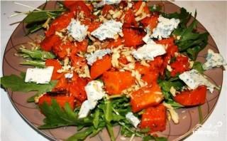 Салат с тыквой и грецкими орехами - фото шаг 4