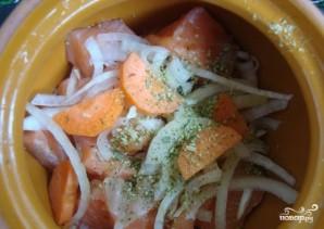 Семга с картошкой в горшочках - фото шаг 6