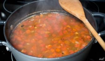 Томатный суп с тефтелями - фото шаг 7