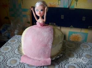 "Торт ""Кукла"" мастер-класс - фото шаг 8"