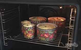 Пасхальный кулич (паска) с сухофруктами и орехами - фото шаг 12