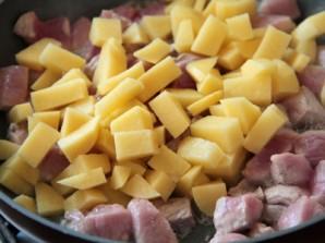 Овощи, тушенные со свининой - фото шаг 2
