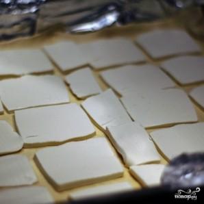 Пирог из слоеного теста с сыром и баклажаном - фото шаг 3