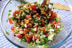 Салат с запеченными овощами - фото шаг 11