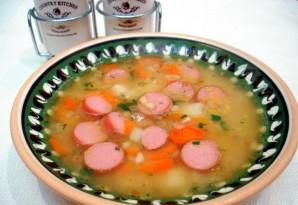 Гороховый суп с сосиской - фото шаг 10
