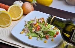 Салат с курицей и пекинской капустой - фото шаг 4