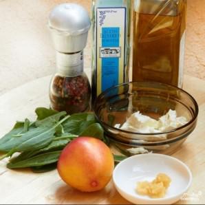 Салат из щавеля и персиков - фото шаг 1
