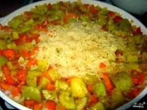 Кабачки с рисом - фото шаг 4