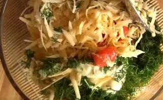 """Салат из крабовых палочек """"Весенний бриз"""" - фото шаг 5"""