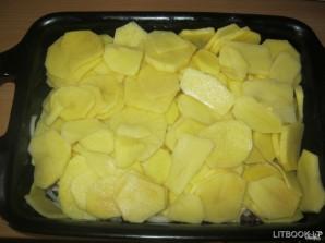 Картошка с мясом и сыром в духовке - фото шаг 4