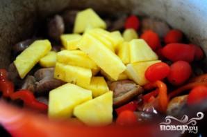 Утка по-тайски с карри и овощами - фото шаг 5