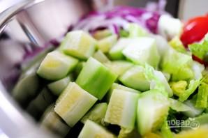 Греческий салат - фото шаг 8
