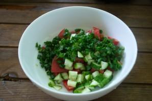 Салат с фетой и курицей - фото шаг 3
