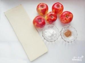 Слоеные конвертики с яблоками - фото шаг 1