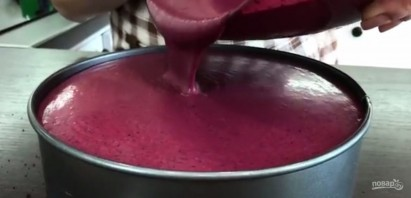 Ягодный торт с черничным муссом - фото шаг 5