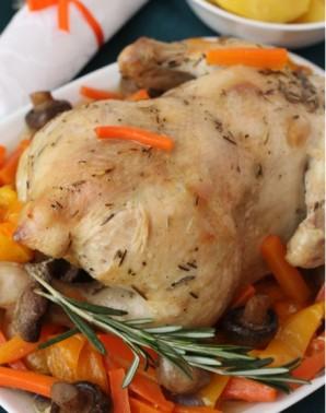Курица с овощами в рукаве в духовке - фото шаг 4