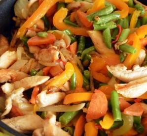 Курица с фасолью и овощами - фото шаг 2