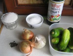Салат из огурцов на зиму без стерилизации - фото шаг 1