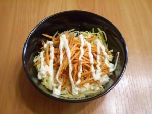 Салат с корейской морковью и печенью - фото шаг 3