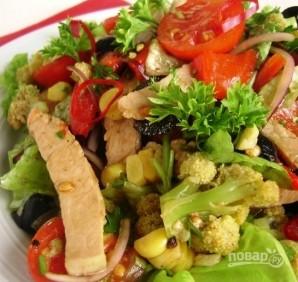 Салат с жареной свининой - фото шаг 5