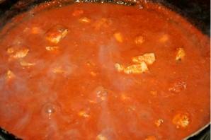 Паста с куриным филе и томатным соусом - фото шаг 2