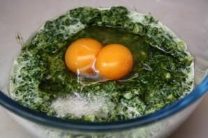 Оладьи с яйцом и зеленью - фото шаг 3