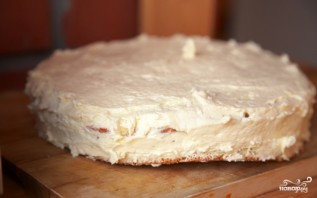 Бисквитный торт с орехами - фото шаг 4