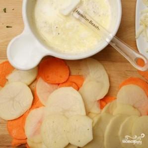Картофельная запеканка с сырным соусом - фото шаг 1