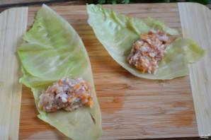Голубцы, фаршированные мясом и рисом - фото шаг 7
