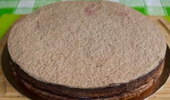 Шоколадный торт со смородиной - фото шаг 9
