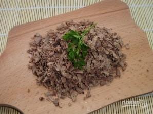 Салат из печени куриной слоями - фото шаг 3