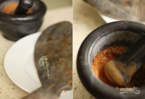 Камбала в духовке в фольге - фото шаг 1
