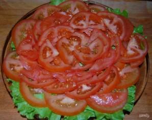 Слоеный салат с шампиньонами - фото шаг 4