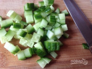 Салат с крабовыми палочками и пекинской капустой - фото шаг 3