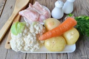 Суп из цветной капусты на мясном бульоне - фото шаг 1