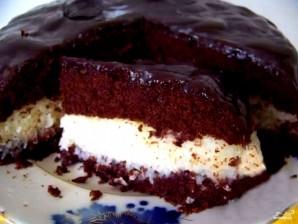 Шоколадный торт с кокосовой стружкой - фото шаг 4