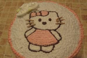 Торт на день рождения девочке 4 года - фото шаг 8