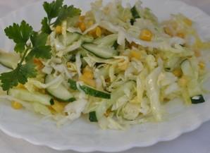 Простой салат с кукурузой консервированной - фото шаг 5