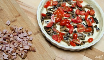 Киш с грибами и сыром - фото шаг 3