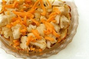 Пирог с картофельной корочкой, цветной капустой и сыром - фото шаг 4