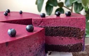 Ягодный торт с черничным муссом - фото шаг 6