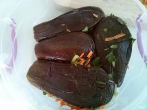 Квашеные баклажаны с морковкой - фото шаг 6