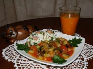 Овощной рататуй, рулетики из омлета и облепиховый морс - фото шаг 8
