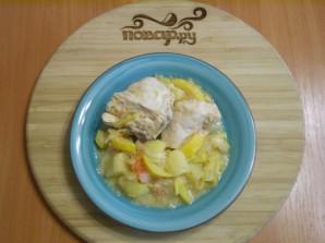 Курица с овощами с сметане - фото шаг 7